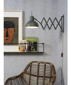 Wandlamp ijzer / schaar Aberdeen, grijs-groen