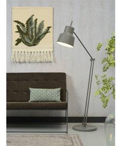 Vloerlamp ijzer Belfast, grijs-groen