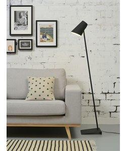 Vloerlamp ijzer / rubber afwerking Cardiff, zwart