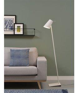 Vloerlamp ijzer / rubber afwerking Cardiff, wit