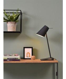Tafellamp ijzer / rubber afwerking Cardiff, zwart