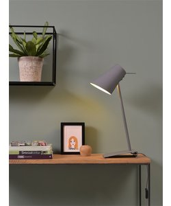 Tafellamp ijzer / rubber afwerking Cardiff, grijs