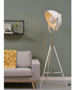 Vloerlamp ijzer Hollywood, wit