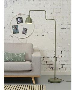 Vloerlamp ijzer / buis London, olijf groen
