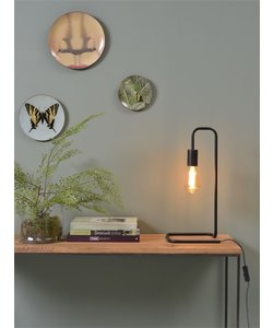 Tafellamp ijzer / buis London, zwart