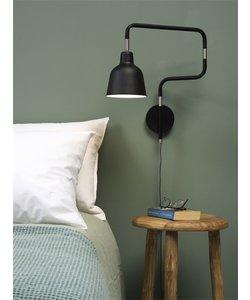 Wandlamp ijzer / buis London, zwart