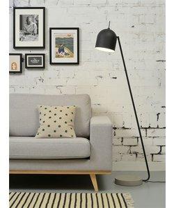Vloerlamp ijzer / betonvoet Madrid, zwart