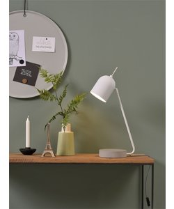 Tafellamp ijzer / betonnen voet Madrid, wit
