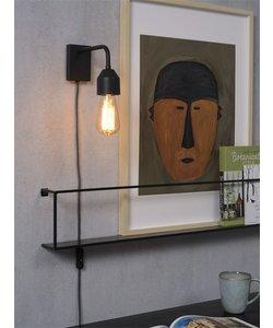 Wandlamp ijzer Madrid zwart, S