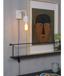 Wandlamp ijzer Madrid wit, S