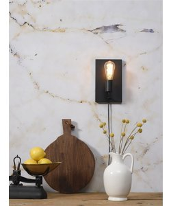 Wandlamp ijzer Madrid zwart, L
