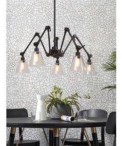 Hanglamp Amsterdam glas zwart