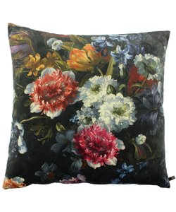 Kussen Bibi / Flowers - Black