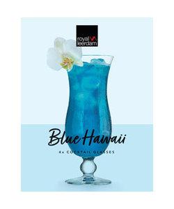 4 Blue Hawaii Cocktailglazen 44cl