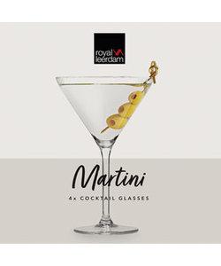 4 Martini Cocktailglazen 26cl