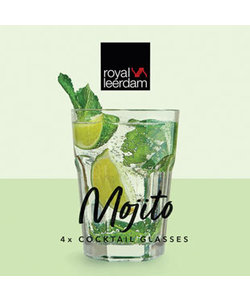 4 Mojito Cocktailglazen 40cl
