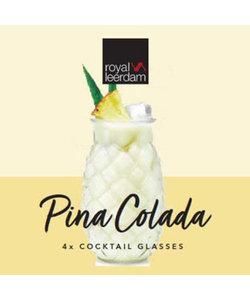 4 Cocktailglazen Piña Colada 50cl