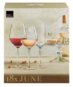 18-delige Set Wijn- en Champagneglazen June