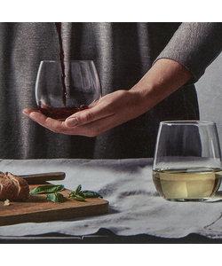 12-delige Set Stemless Wijn- en Waterglazen Suave