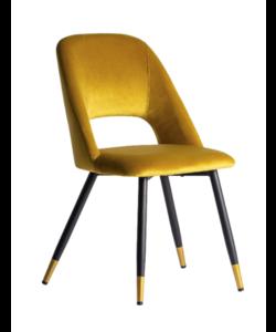 Set van 2 Capri stoelen mosterd geel