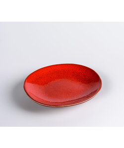 Ovaal Bord Miro Scarlet Mini  11,5cm x 13cm  ( 12 stuks )