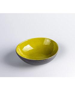 Lage Ovale Bowl  Miro Basalt & Verde Medium 16cm x 14,5cm x 5,5Hcm ( 6 stuks )