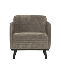 STATEMENT FAUTEUIL MET ARM BREDE PLATTE RIB CLAY