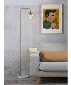 Vloerlamp ijzer Warsau, goud