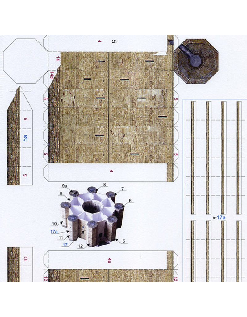 Schreiber-Bogen Castel del Monte (bouwplaat 1:250)