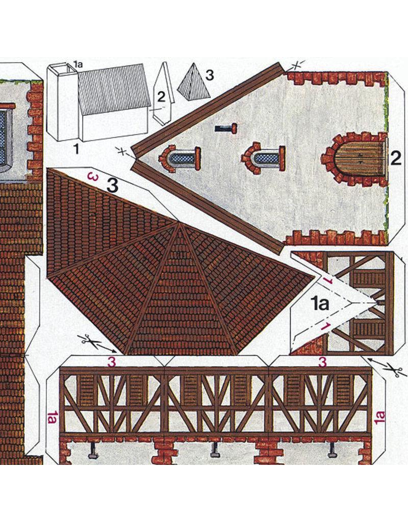 Schreiber-Bogen Dorp met vakwerkhuizen (bouwplaat 1:160)
