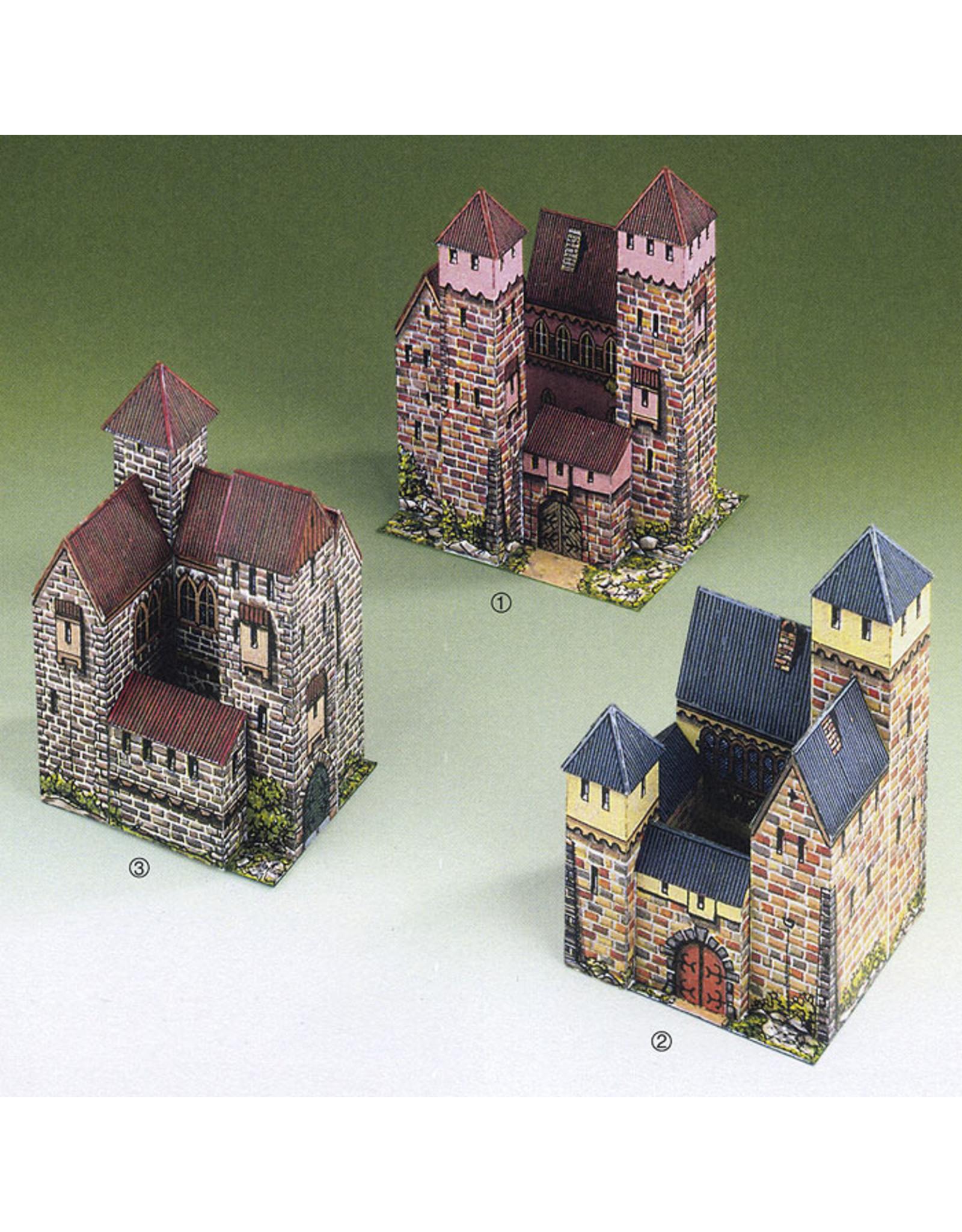 Schreiber-Bogen Drie kleine kastelen (bouwplaat)