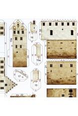Schreiber-Bogen Kasteel Meersburg am Bodensee (bouwplaat 1:300)