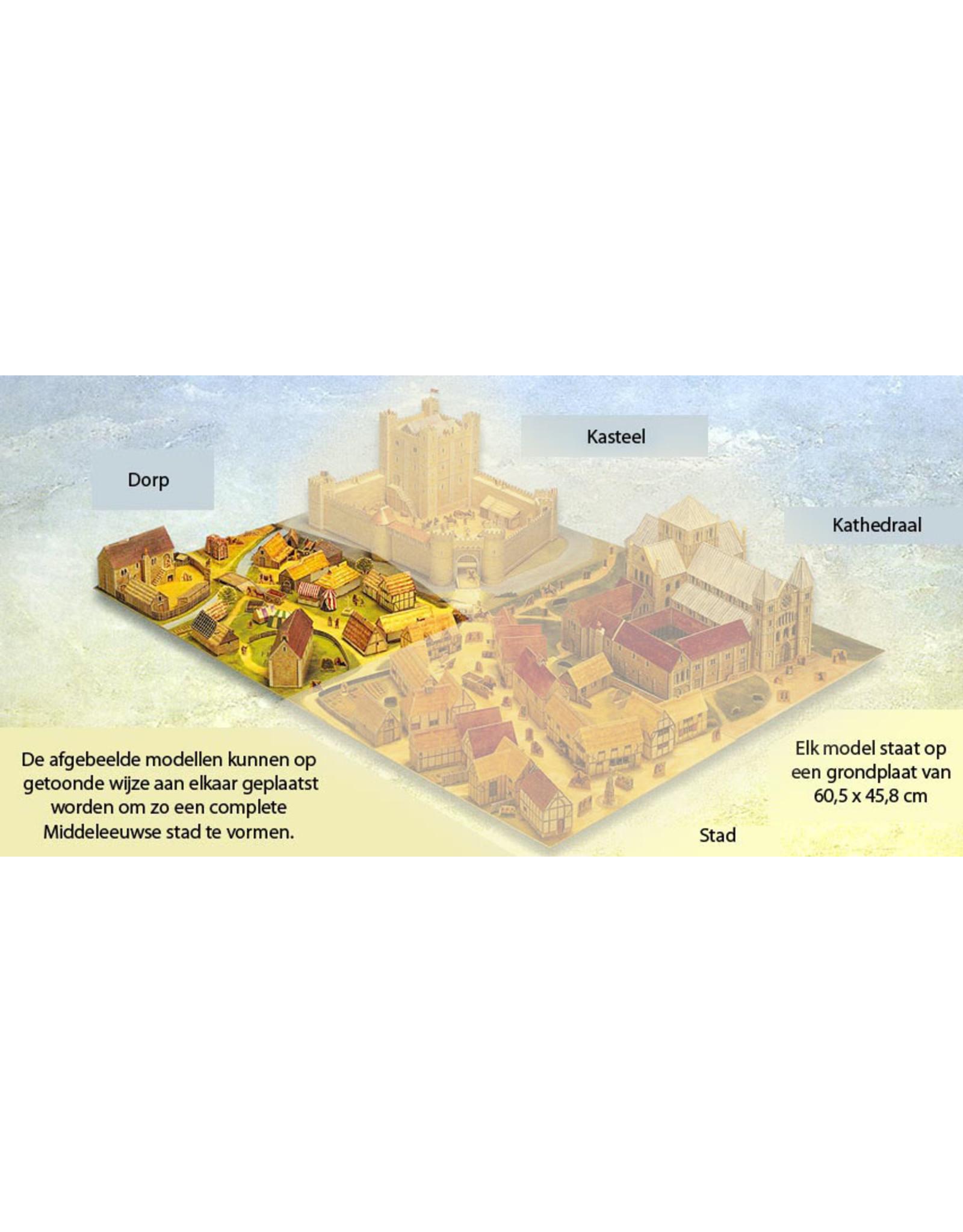 Usborne Publishing Maak zelf een middeleeuws dorp (bouwplaat)