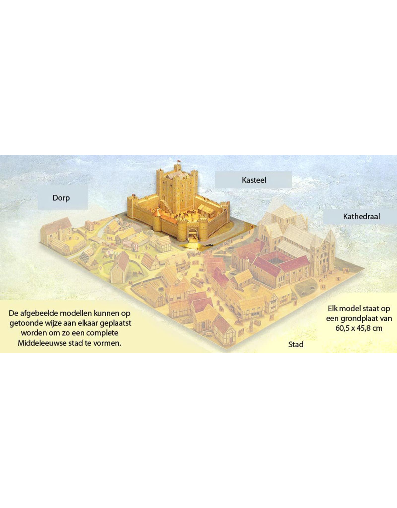 Usborne Publishing Maak zelf een middeleeuws kasteel (bouwplaat)