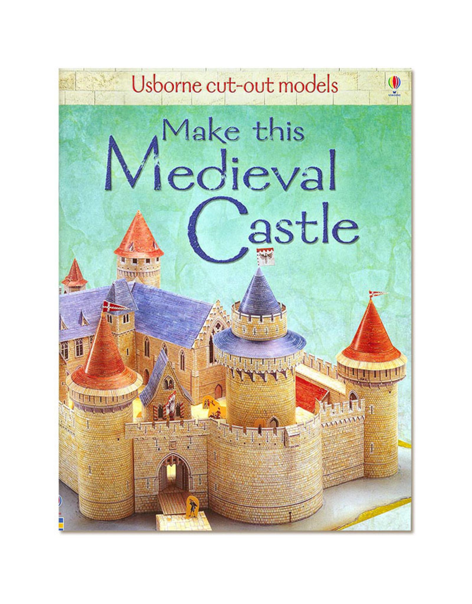 Usborne Publishing Maak zelf een middeleeuwse burcht (bouwplaat)