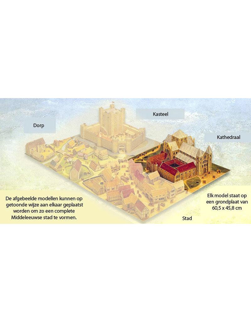 Usborne Publishing Maak zelf een middeleeuwse kathedraal (bouwplaat)