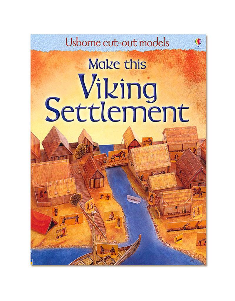Usborne Publishing Maak zelf een Viking nederzetting (bouwplaat)