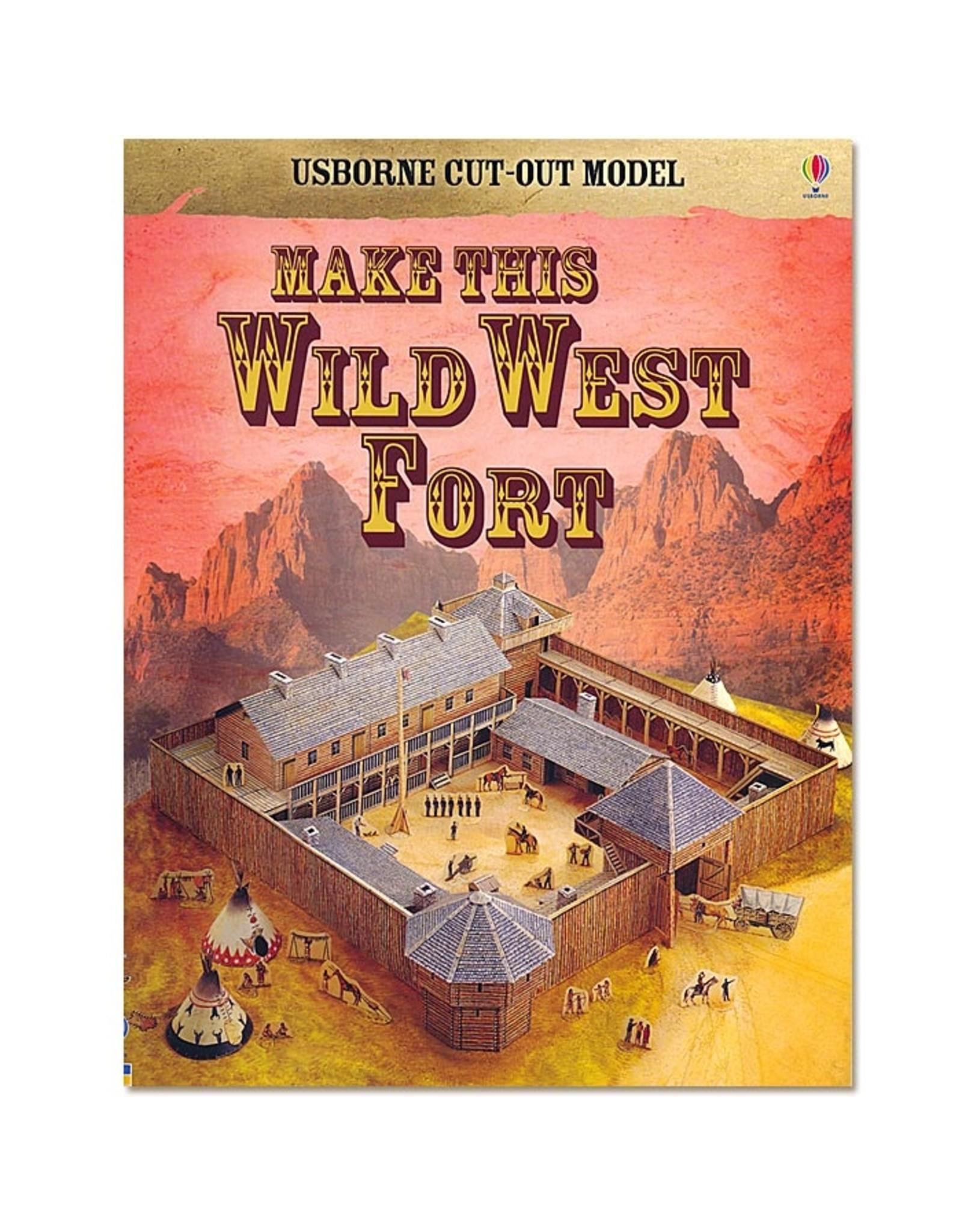 Usborne Publishing Maak zelf een Wild-West-Fort (bouwplaat)