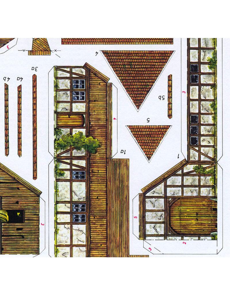 Schreiber-Bogen Windmolen en Boerderij (bouwplaat 1:87)