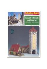 Schreiber-Bogen Smederij Gerlach en Rodertor (bouwplaat 1:160)