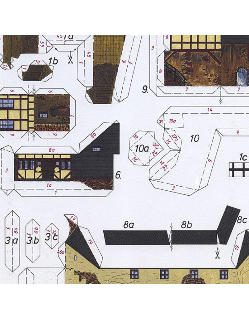 Schreiber-Bogen Kasteel Marksburg (bouwplaat 1:160)