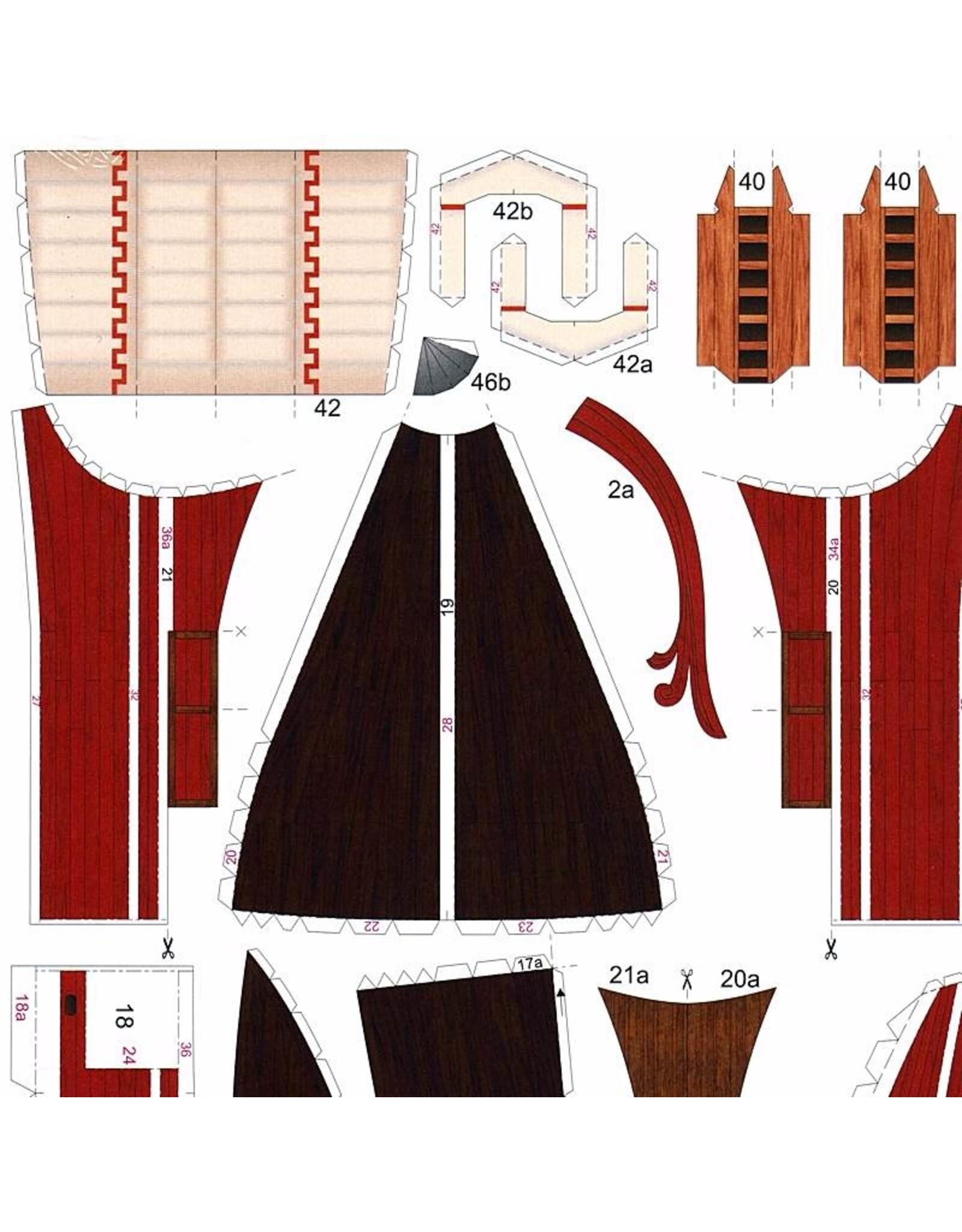 Schreiber-Bogen Romeinse Quinquereme (bouwplaat 1:100)