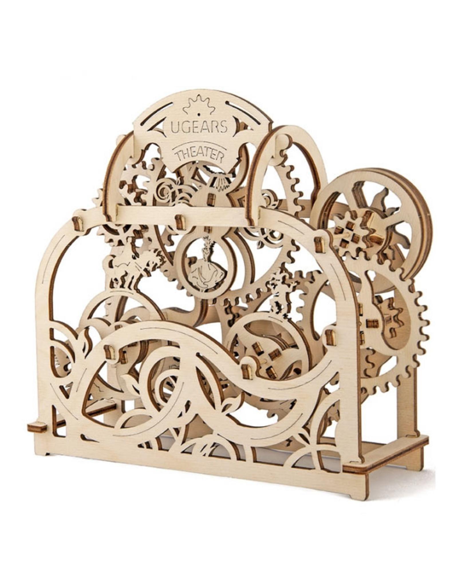 Ugears mechanische 3D-bouwpakketten Theater (mechanisch houten 3D-bouwpakket)