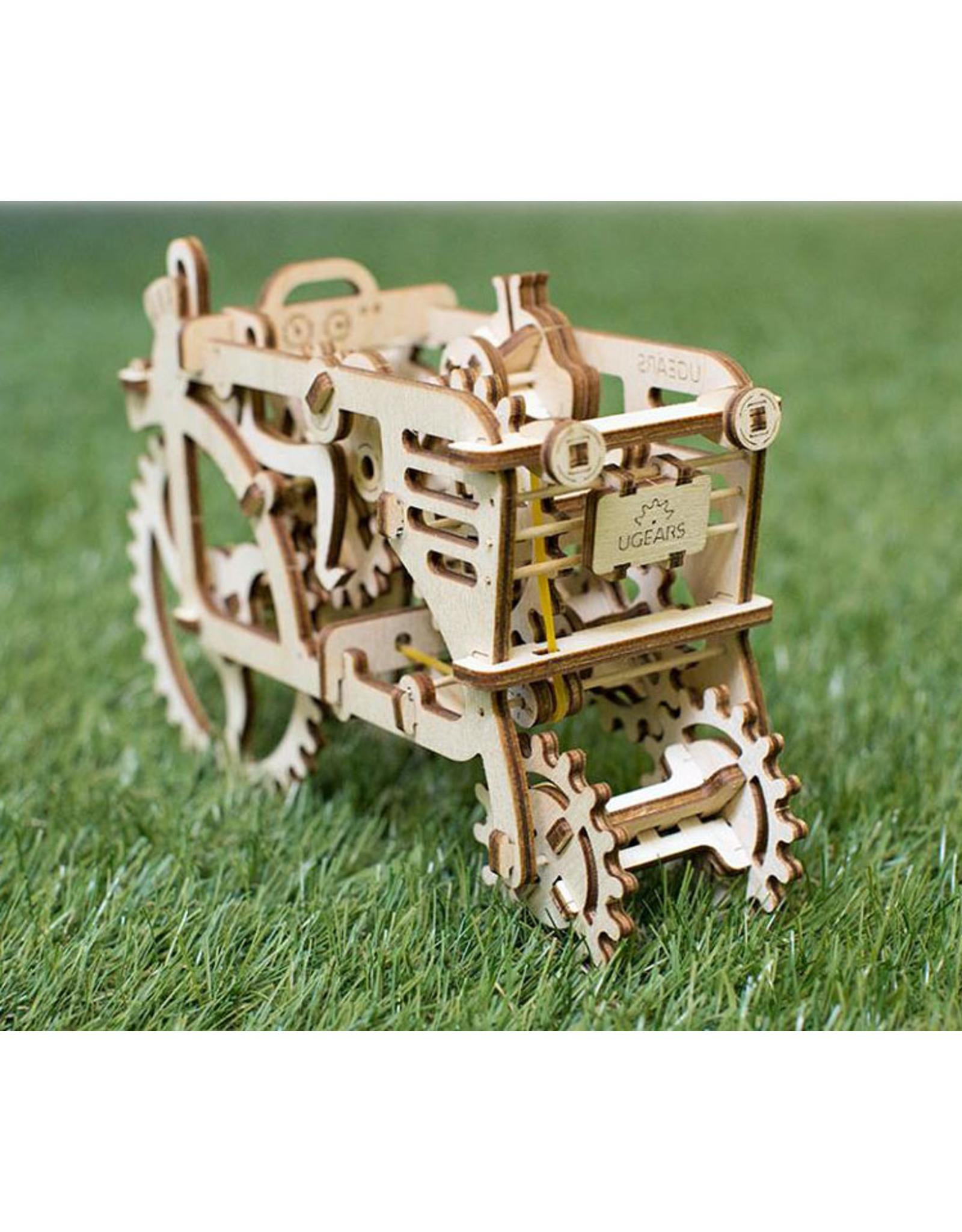 Ugears mechanische 3D-bouwpakketten Tractor (mechanisch houten 3D-bouwpakket)