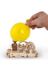 Ugears mechanische 3D-bouwpakketten Pneumatische motor (mechanisch houten 3D-bouwpakket)