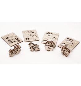 Ugears mechanische 3D-bouwpakketten Tribka-Trinkets (4 verschillende bouwpakketten)