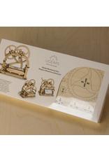 Ugears mechanische 3D-bouwpakketten Mechanisch doosje (mechanisch houten 3D-bouwpakket)