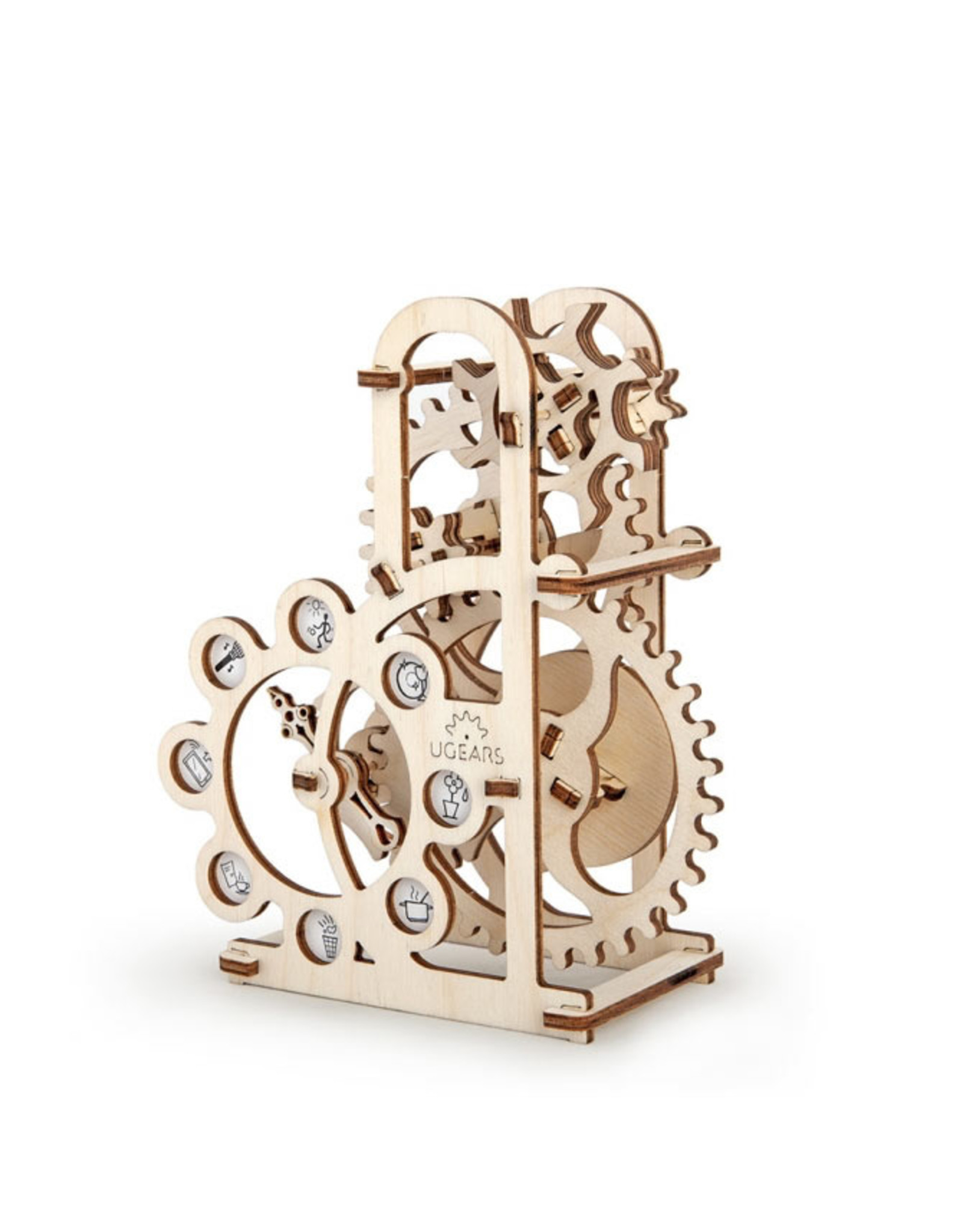 Ugears mechanische 3D-bouwpakketten Dynamometer (mechanisch houten 3D-bouwpakket)