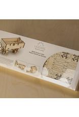 Ugears mechanische 3D-bouwpakketten Tractor Trailer (mechanisch houten 3D-bouwpakket)