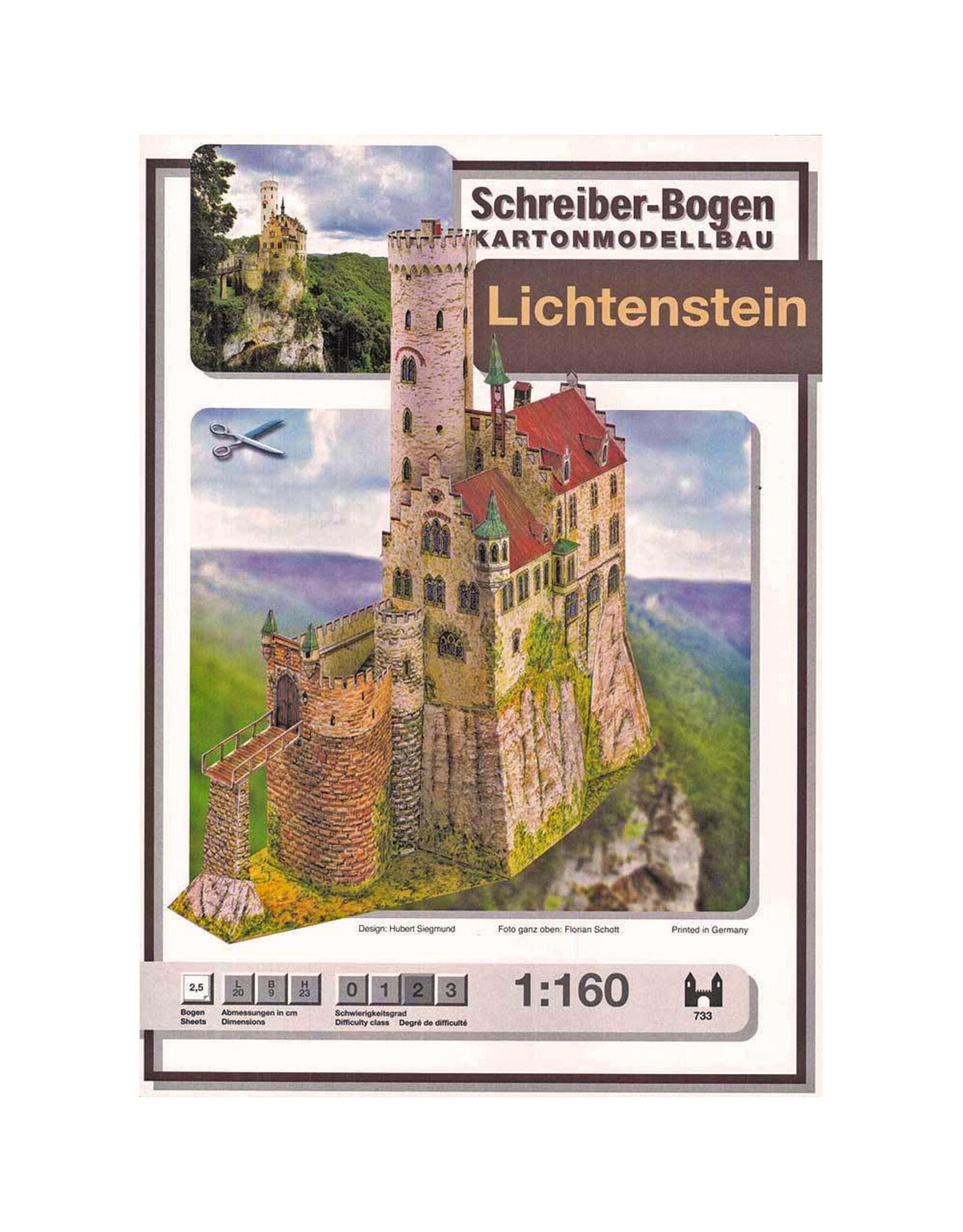 Schreiber-Bogen Kasteel Lichtenstein (bouwplaat 1:160)
